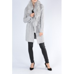 PULL GILET FAUSSE FOURRURE